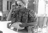 Lee Miller looking over the top of her sun glasses, Egypt