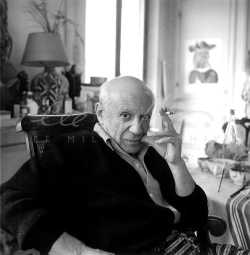 Picasso, villa la Californie, Cannes, France 1957 by Lee Miller