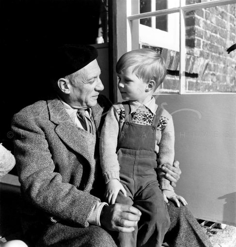 Picasso and Antony Penrose, Farley Farm House, East Sussex, England 1950 by Lee Miller